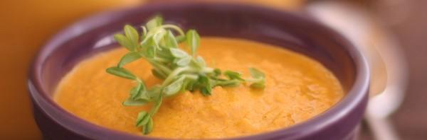 sopa de colheita crua vegan