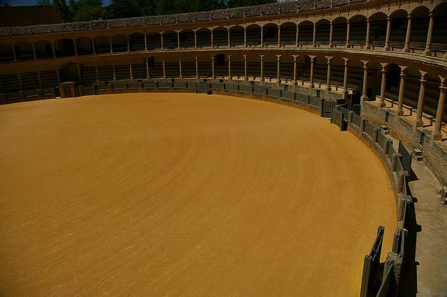 bull fighting arena empty