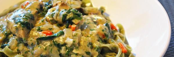 coco-no-chick pasta vegan
