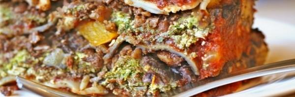 health fake vegan meat lasagne