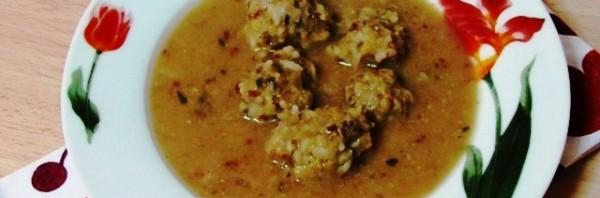vegan meatball soup giouvariak