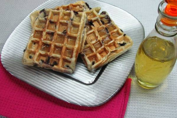 Fluffy Blueberry Waffles