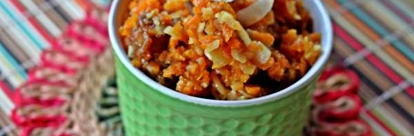 Recipe: Khajur Gajar Halwa (Carrot and Date Pudding with Coconut and Cardamom)