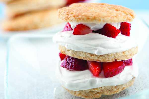 Strawberry Shortcake with a Coconut Whipped Cream Topping