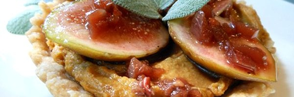 Recipe: Southern Savory Tarts with Black Bean Puree, Fresh Figs, and Sweet Tea Drizzle