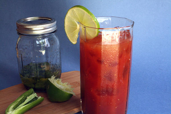 Recipe: Bloody Marias Made with Infused Tequila
