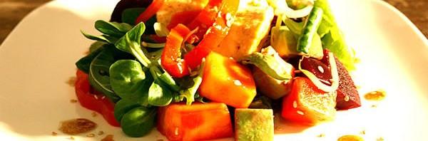 Recipe: Rainbow Salad with Umeboshi Dressing