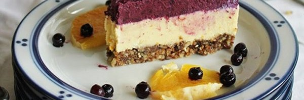 Recipe: Raw Orange and Blueberry Cheesecake