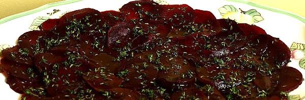 Recipe: Beet Carpaccio