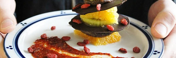 Recipe: Raw Spiced Chocolate Layered with Kiwi, Figs and Orange