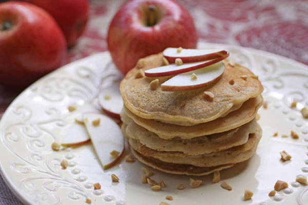Apple-Almond Butter Pancakes