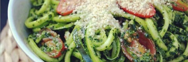 Recipe: Spicy Kale Pesto with Zucchini Noodles