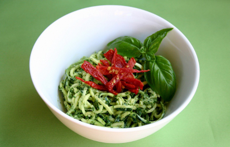 Recipe: Gluten Free Zuchini Pesto Pasta