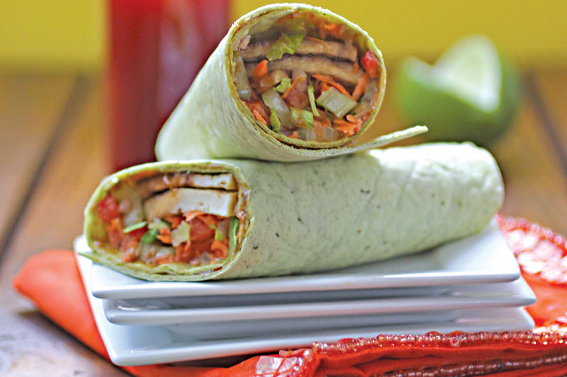 Recipe: Thai Tofu-Vegetable Wraps