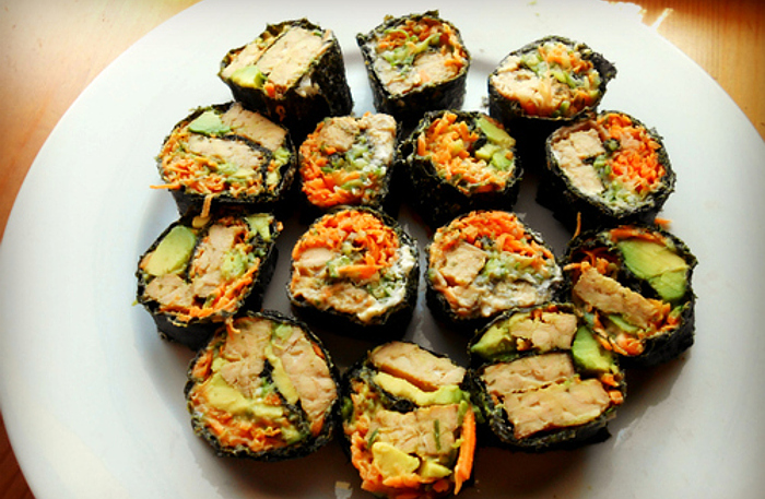 Tips for Making Grainless Raw Vegan, Paleo, or Vegetarian sushi