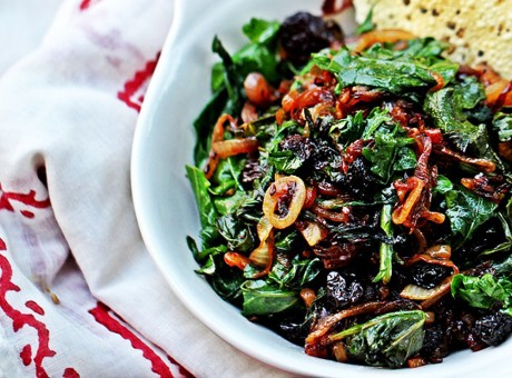 Kale with Caramelized Onions and Cumin