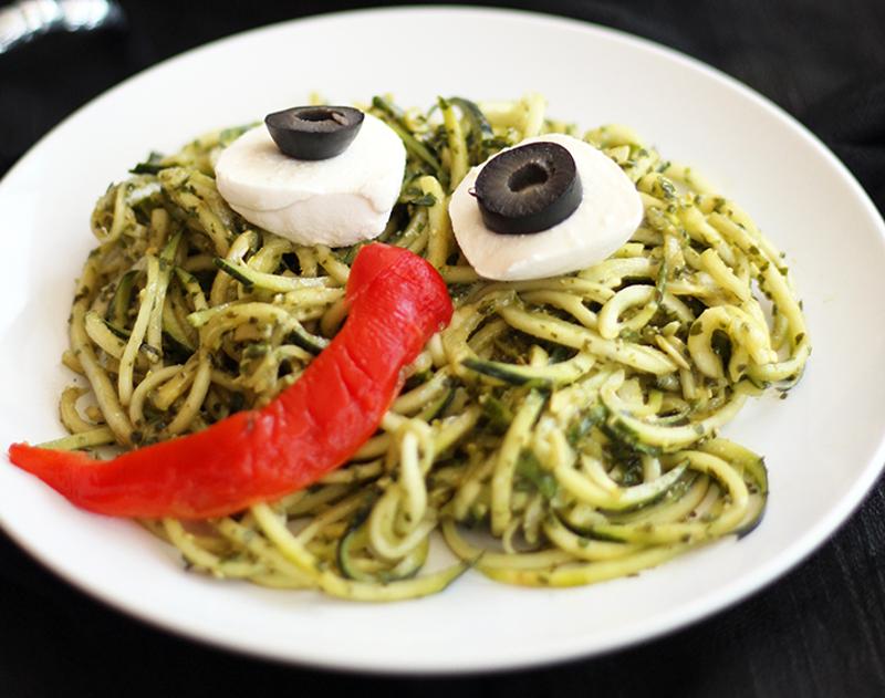 Spicy Vegan Zucchini Noodles