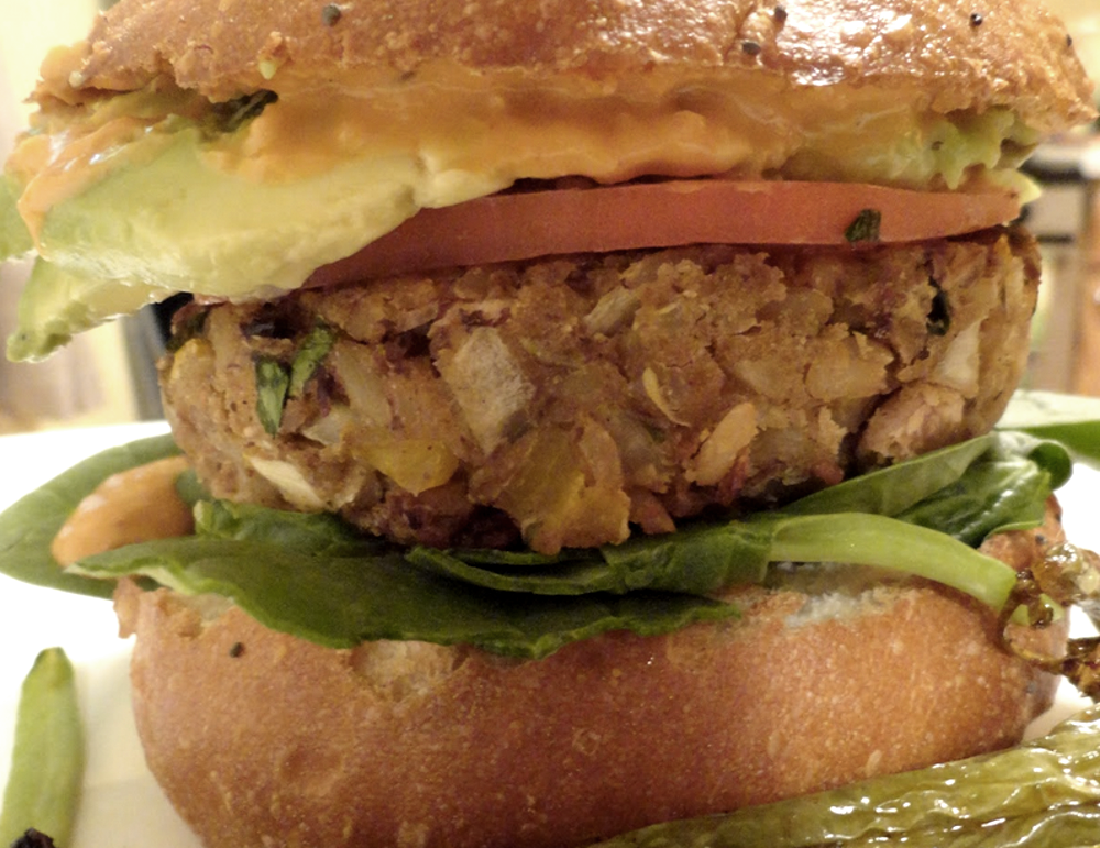 Vegan Black-Eyed Pea Burgers with Mississippi Comeback Sauce