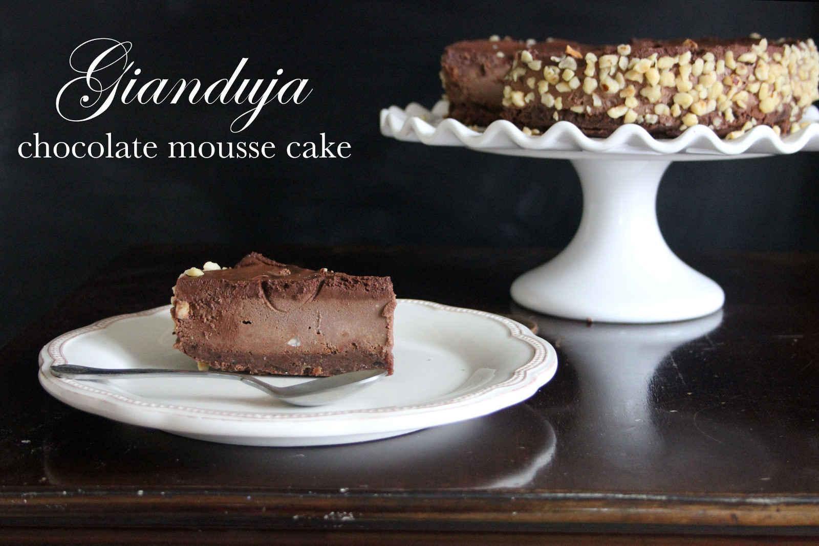 Gianduja Chocolate Mousse Cake (Vegan)