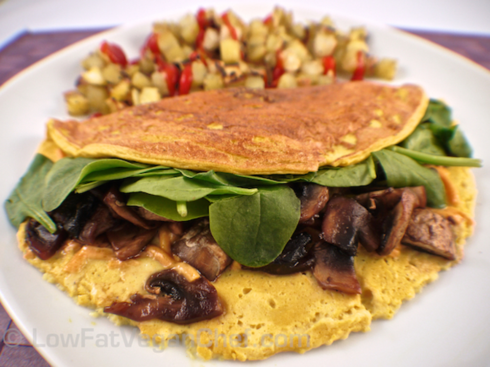 Low Fat Vegan Silken Tofu omelet