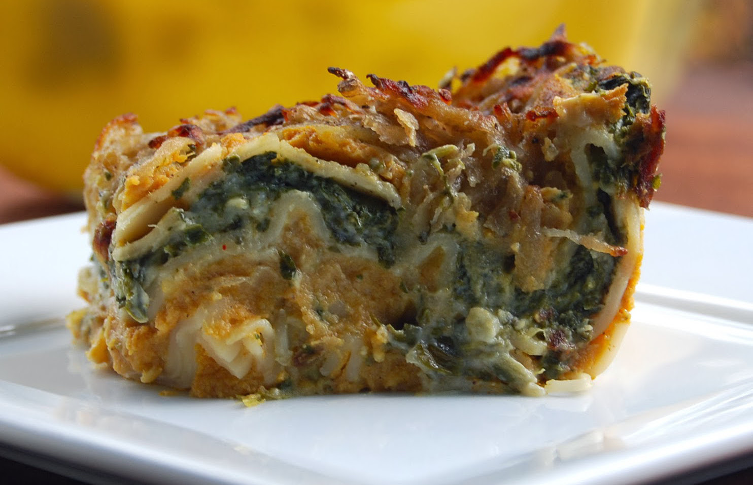 Creamy Pumpkin and Spinach Lasagna