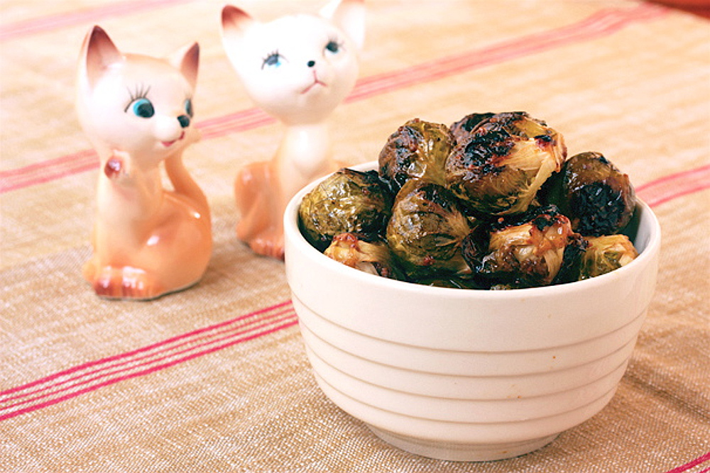Roasted Brussels Sprouts With Sherry-Maple Vinaigrette