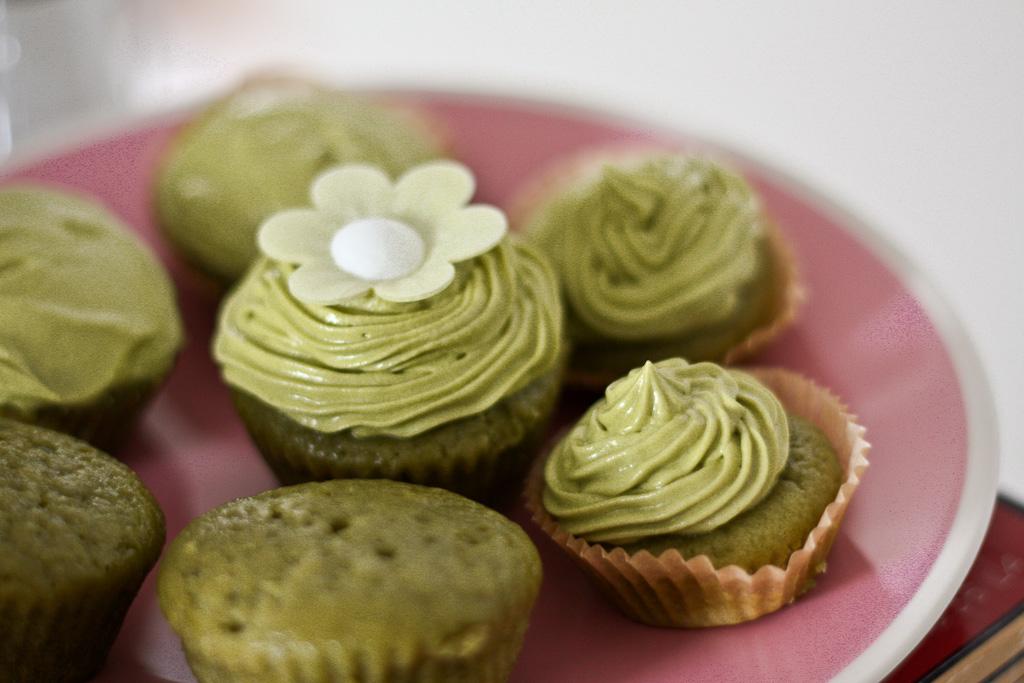 Vegan Matcha (Green Tea) Cupcakes