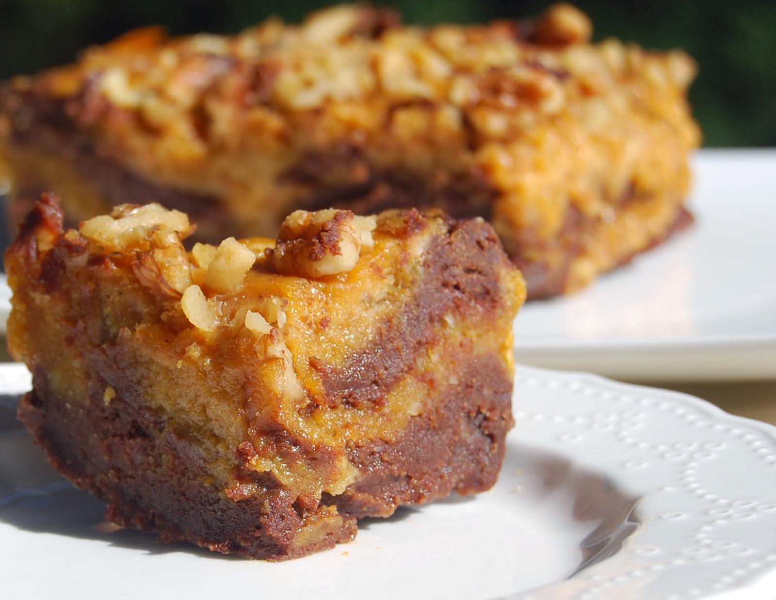 Vegan Whole Wheat Pumpkin Chocolate Brownies