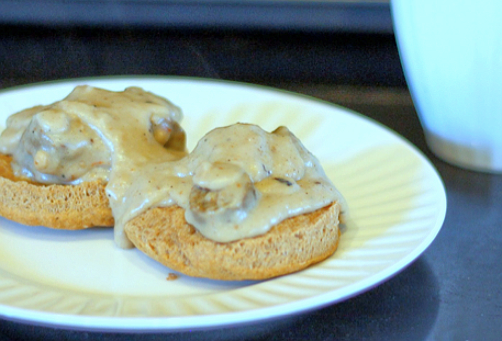Vegan Biscuits and Sausage Gravy