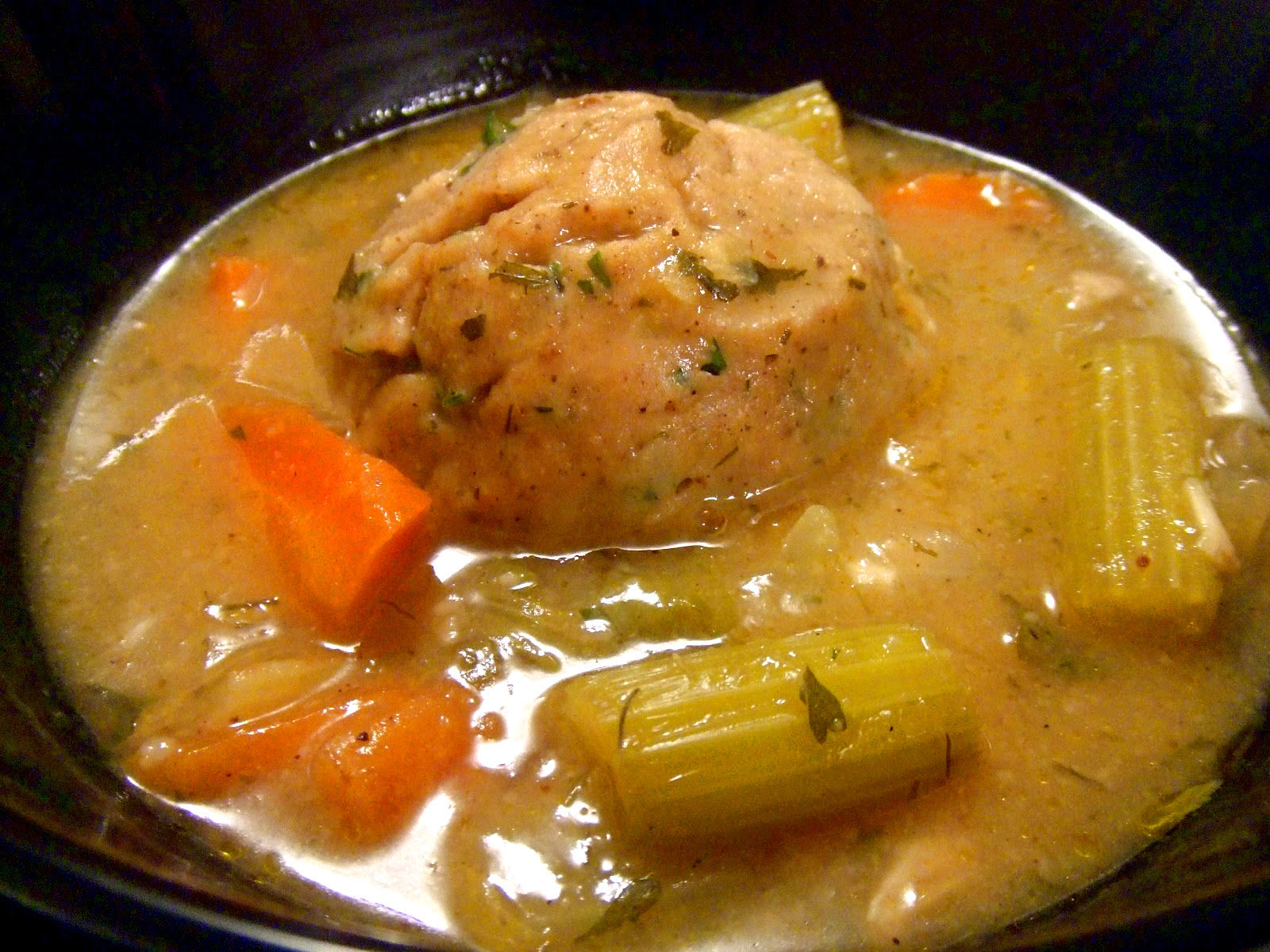 Bowl of Vegan Matzo Ball Soup