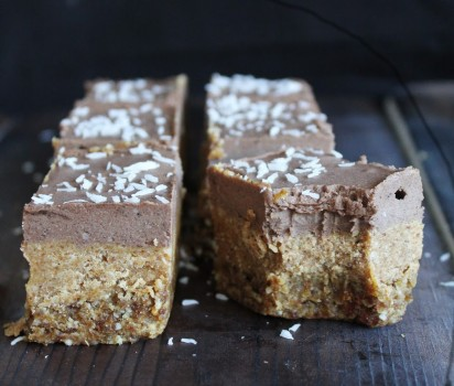 vegan Chocolate Caramel Bars