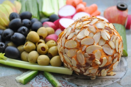 vegan cheddar cheeseball