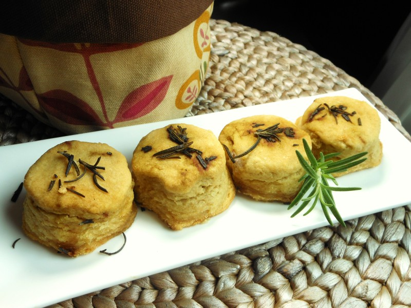 Vegan Flaky Biscuits With Rosemary Butter