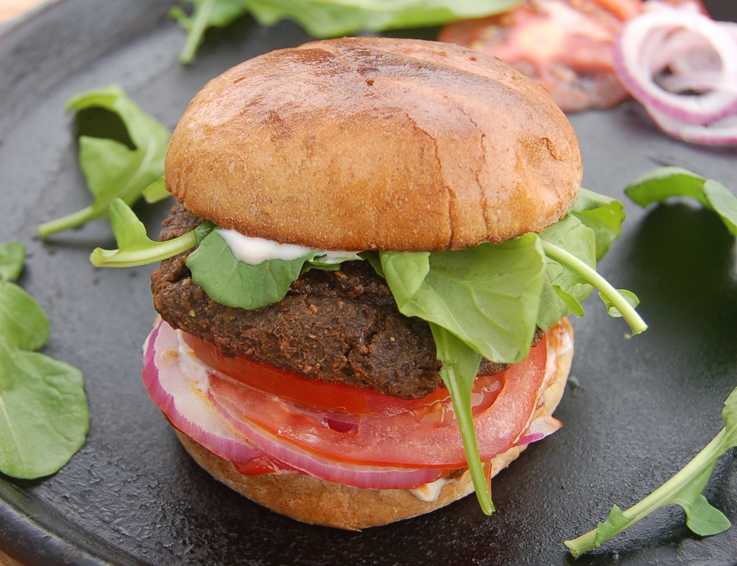 Meatless 'lamb' burger