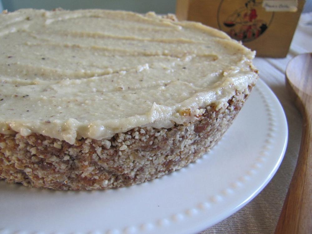 Raw Lavendar Lemon Cheesecake
