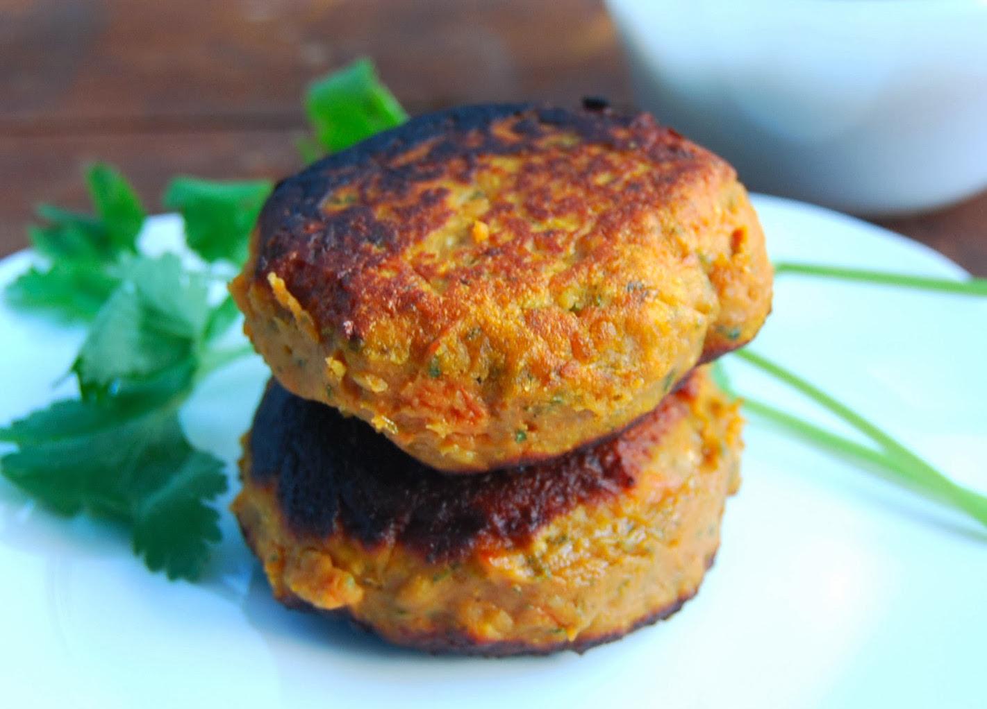 sweet potato and kale patties