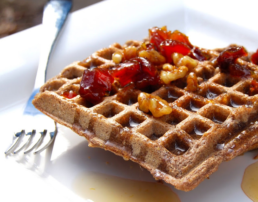 Buckwheat brown rice waffles
