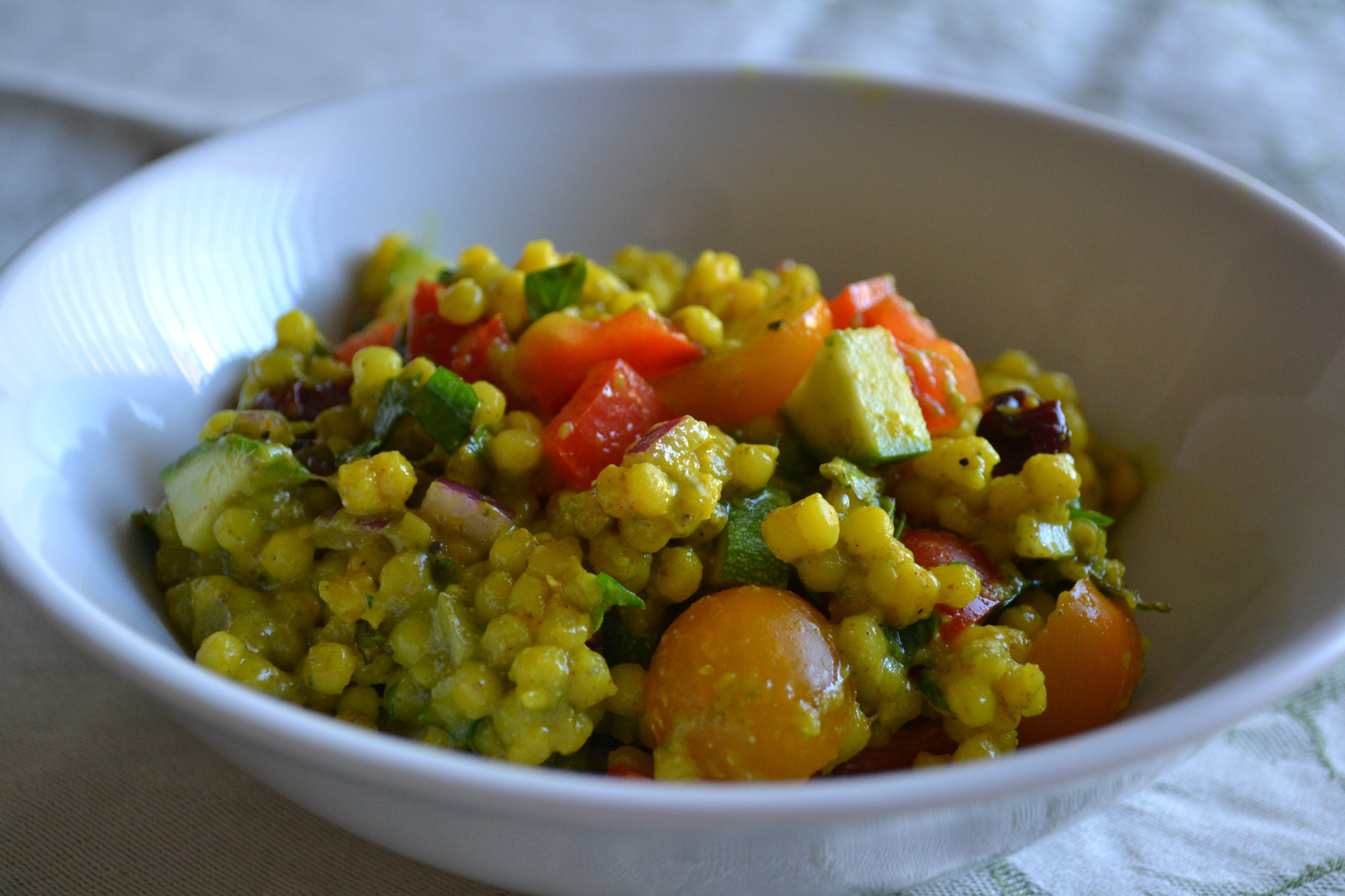curried couscous and vegetable salad