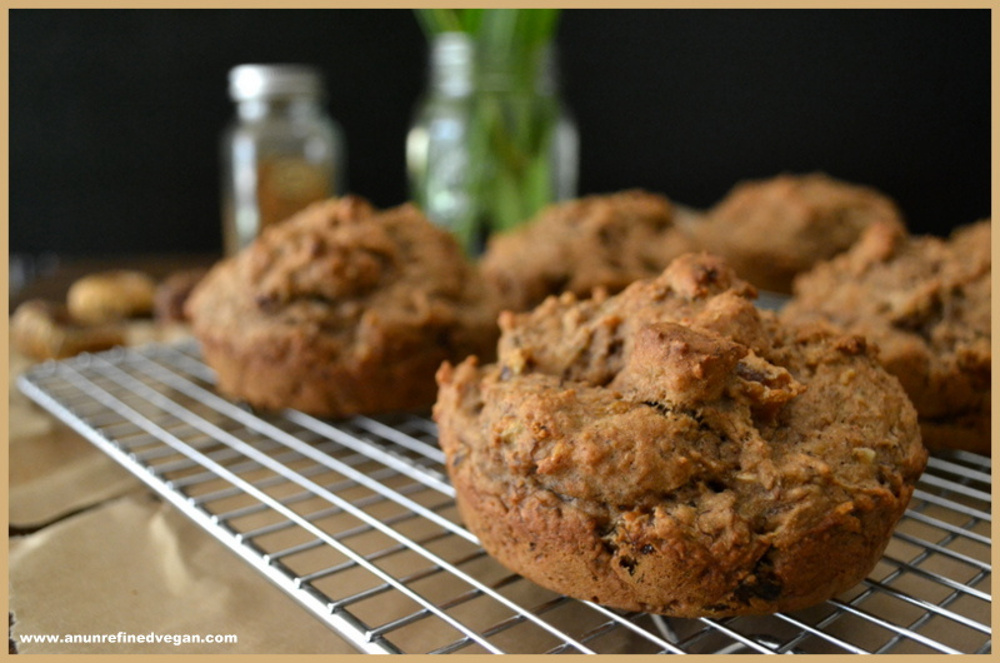 Oil-free Banana Fig Cakes with Date-Coconut Drizzle
