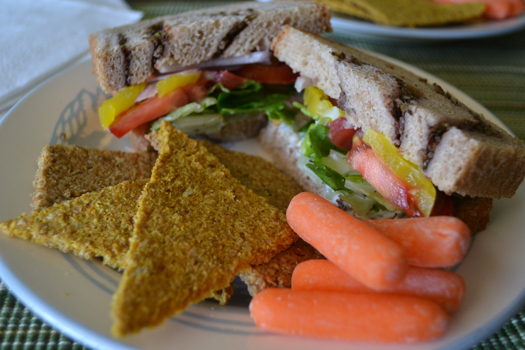 Vegan veggie sandwich