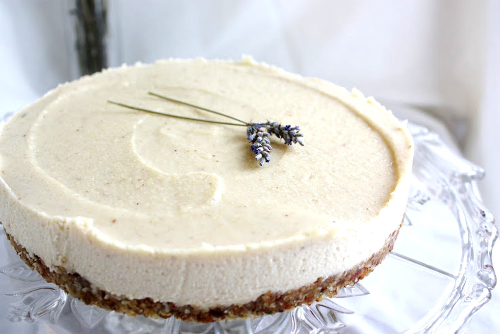 Lavender and Lemon Vegan Cheesecake