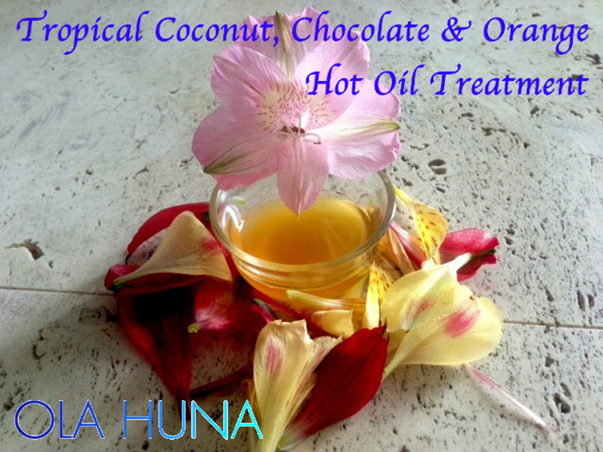 Tame Your Mane with This Tropical Coconut, Chocolate & Orange Hot Oil Treatment