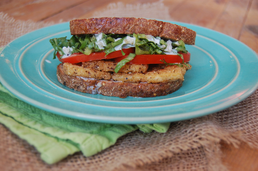 Breaded Vegan Fish Sandwich