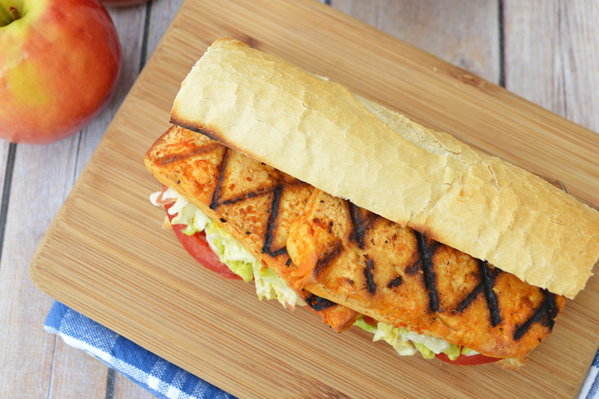 buffalo tofu vegan po' boy