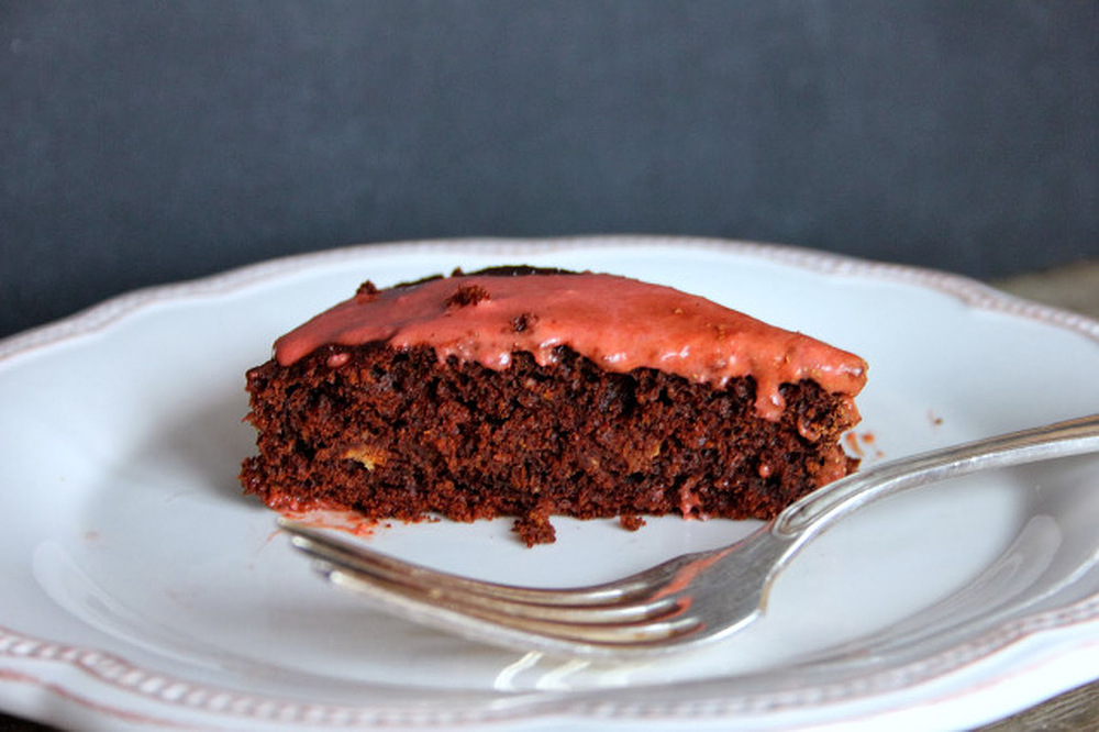 Fudgy Beetroot Chocolate Cake with Pink Frosting