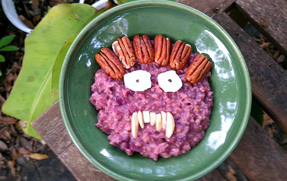purple monster oatmeal
