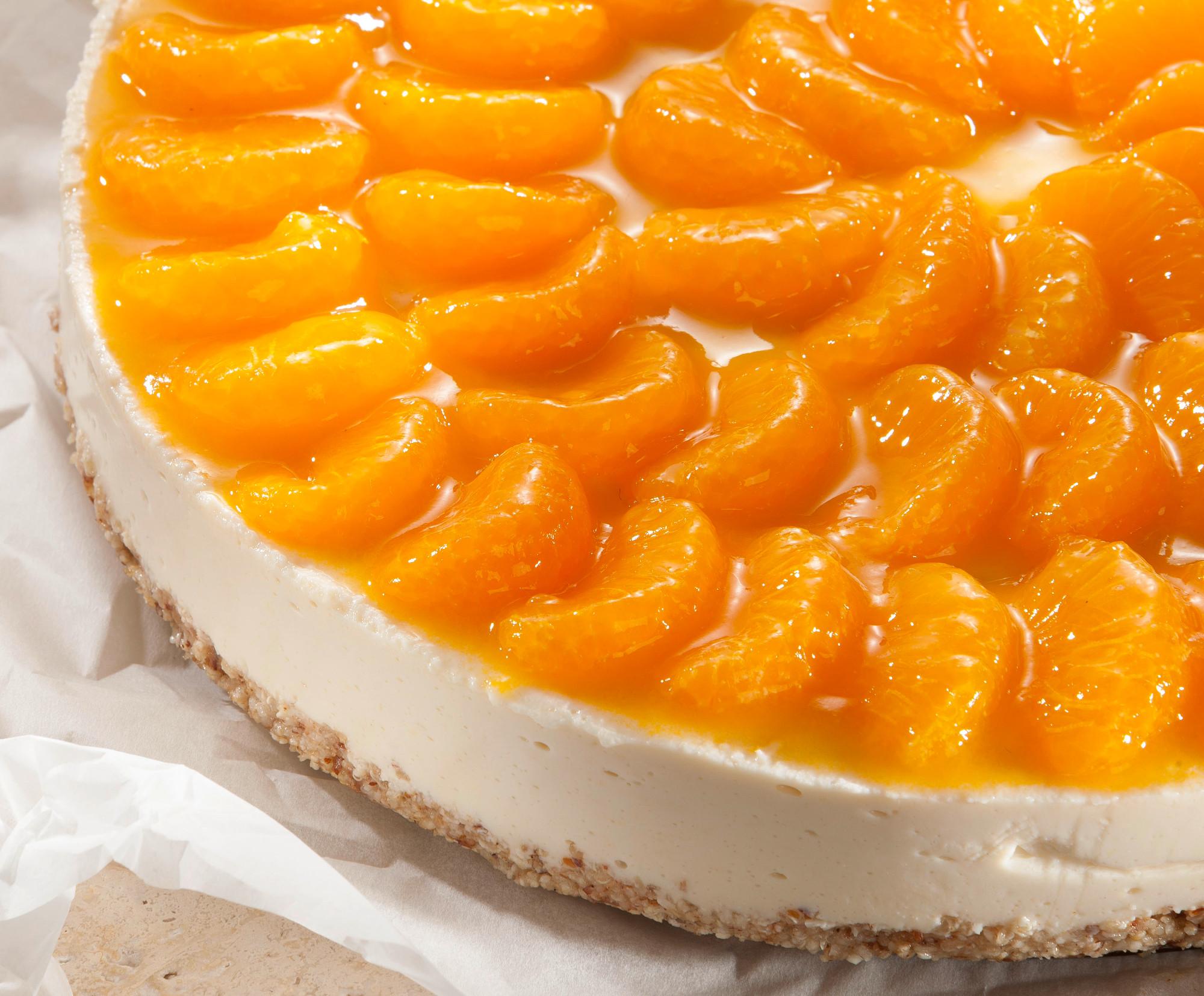 Mandarin Cake With Amaranth Crust