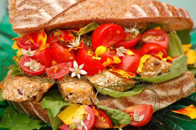 Tempeh Tomato Herb Sandwich