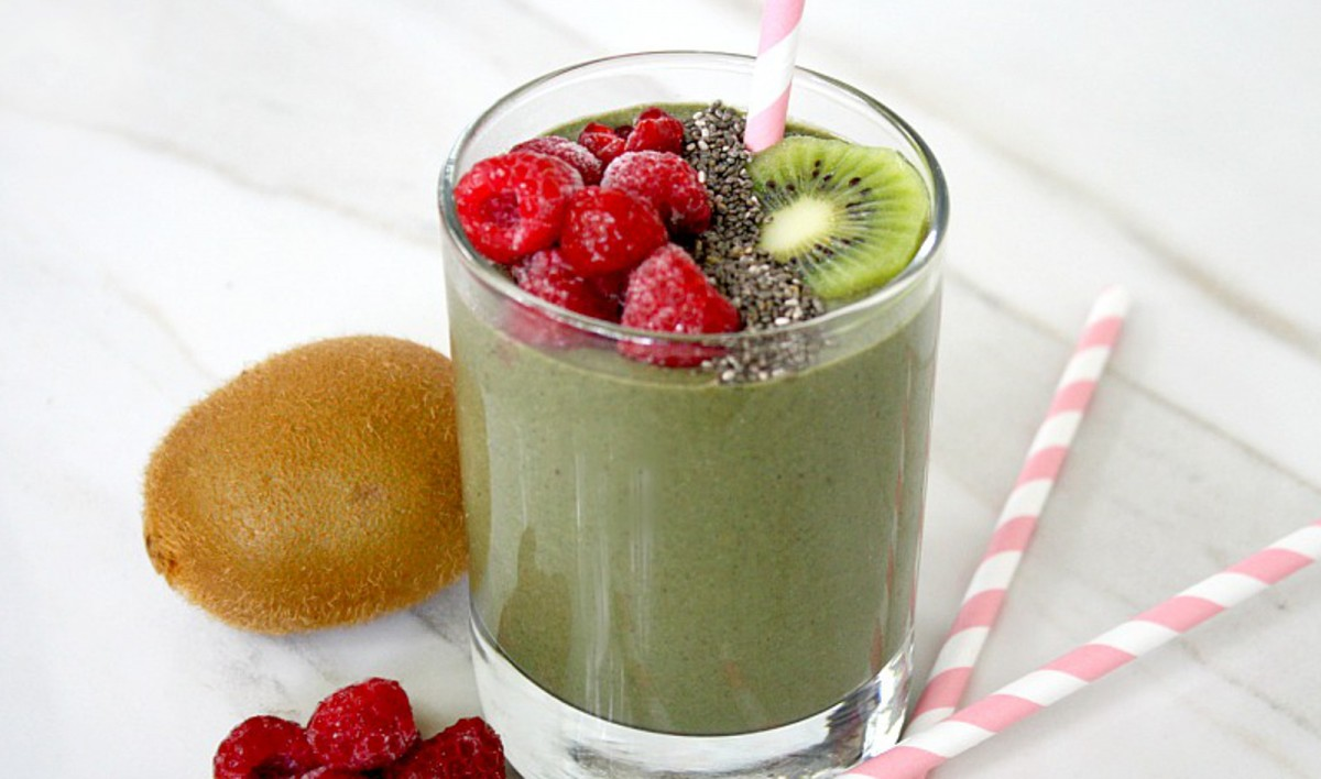 Raspberry Kiwi Smoothie