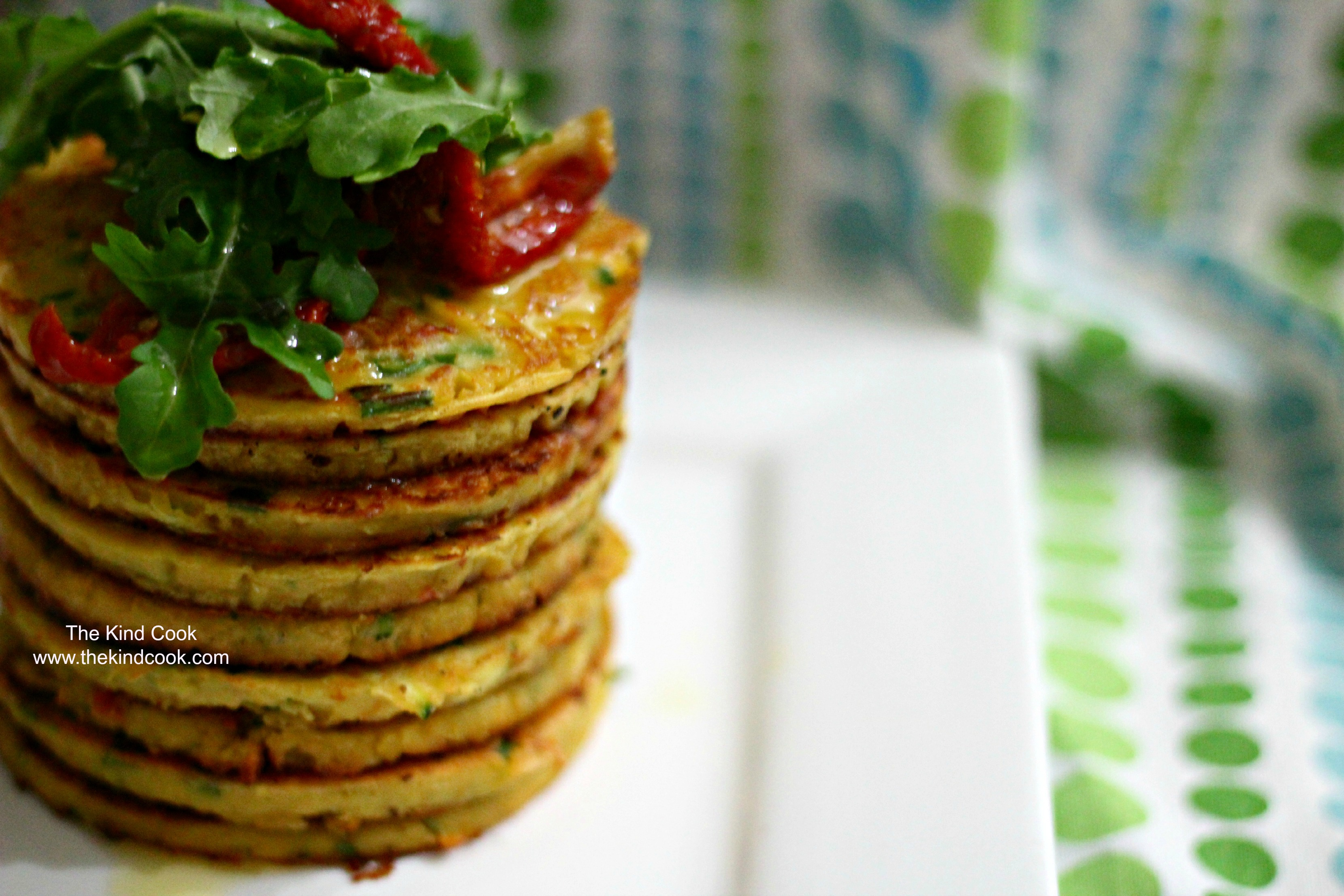 Vegan Tomato, Chive, and Chickpea Pancakes